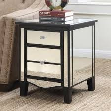 Mirrored Nightstand Sale Mirrored End Tables On Hayneedle Mirrored Side Tables
