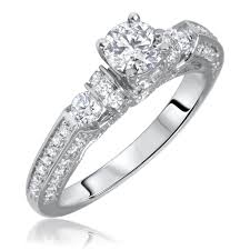 womens engagement rings 1 1 10 carat t w cut diamond engagement ring 10k