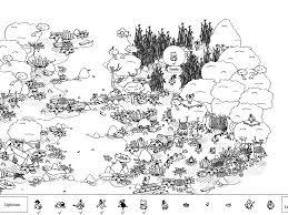 A Kitchen In Black And White Panda S House by Hidden Folks Walkthrough Gamezebo