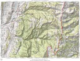 Topographic Map Of Utah by Skyline Drive