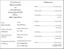 wedding ceremony programs template 29 images of wedding ceremony template word infovia net