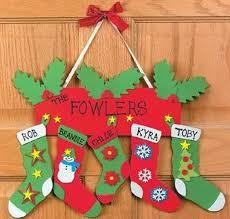 christmas home made decorations homemade christmas door hanger decoration ideas family holiday