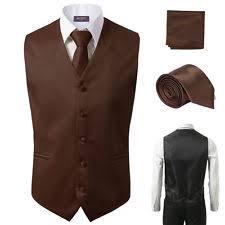 3pcs set s formal slim fit tuxedo vest suit hankie dress