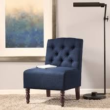 pleasing navy blue accent chair for small home decor inspiration