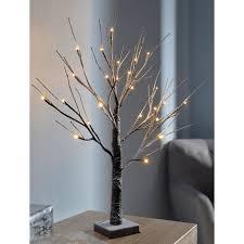 the seasonal aisle pre lit led twig tree with snow