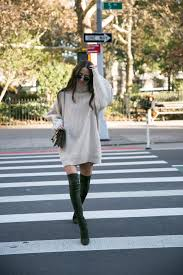 sweater dress and sweater dress and knee highs something navy