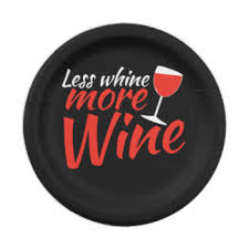 funny wine drinking plates zazzle