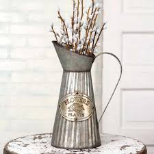 Metal Jug Vase Vases Planters Urns U0026 Jugs U2013 Emory Valley Mercantile