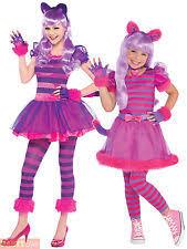 Cheshire Cat Costume Girls Cheshire Cat Costume Teen Kids Pink Kitty Fancy Dress
