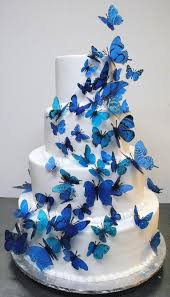 butterfly cake toppers blue butterfly cake