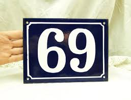 large vintage traditional french enamel house number plate number