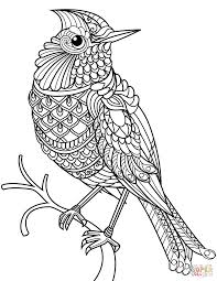 free printable zentangle coloring pages now cardinal pictures to color northern zentangle coloring page free