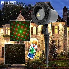 remote green snowflake outdoor laser light show