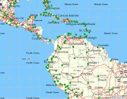 World Map Central America by Tramsoft Gmbh Garmin Mapsource World English