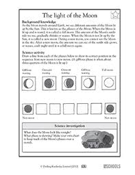 3rd grade 4th grade science worksheets the light of the moon