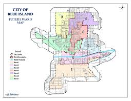 Illinois Map Of Cities by Ward Maps City Of Blue Island