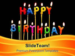 happy birthday candles events powerpoint templates and powerpoint