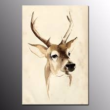 discount price hd canvas print art for home decor deer oil