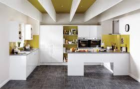 cuisine blanc brillant houdan cuisines idée de décoration elançon blanc brillant cuisine