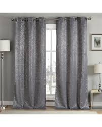 Grey Metallic Curtains 13 Duck River Maddie Metallic Blackout Grommet Pair