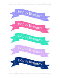 free printable birthday cake banner free printable happy birthday cake banners free printables