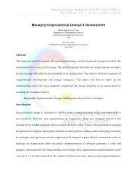 managing organizational change u0026 development pdf download available