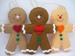 Gingerbread Christmas Decorations Wholesale gingerbread felt christmas ornament felt gingerbread man