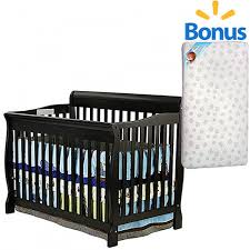 Fixed Side Convertible Crib On Me Ashton Convertible 5 In 1 Crib And Bonus Mattress