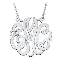 initial monogram necklace three initial monogram necklace antons jewelry