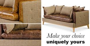 portland leather and harris tweed sofa bespoke options modish living