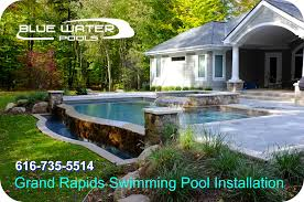grand rapids swimming pool installation by blue water pools