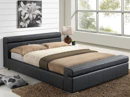 King Size Leather Bed Frame Durham Contemporary Black Faux Leather Bed Frame 5ft Kingsize