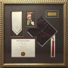 graduation cap frame graduation cap and diploma frame document framing