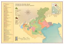 Italy Wine Regions Map Veneto Wine Region Map Cellartours