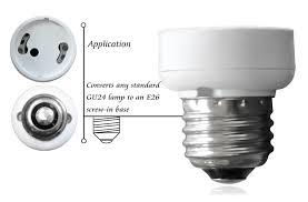 standard light bulb base e26 e26 e27 to gu24 adapter medium edison to bayonet base socket