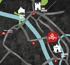 road map of york how to find the york dungeon on the south bank in york