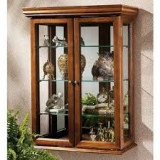 Wall Curio Cabinet Glass Doors Wall Mount Curio Cabinet Foter