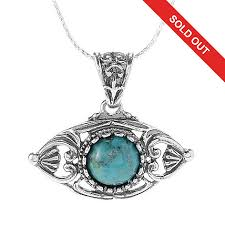eye pendant necklace images Passage to israel sterling silver 10mm gemstone quot evil eye