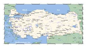 Turkey On World Map by Detailed Map Of Turkey With Major Cities Turkey Asia