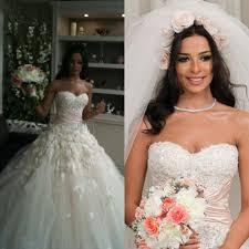 classical nadine njeim vintage wedding dresses a line colorful