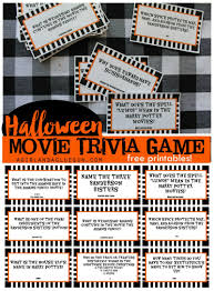 free printable halloween bingo game cards printable halloween movie trivia game 30 days of halloween day
