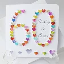 60th anniversary ideas handmade 3d 60th wedding anniversary card 60th anniversary