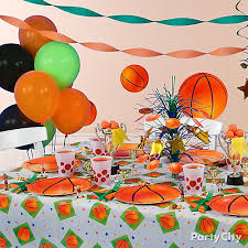 basketball party table decorations basketball party table idea party city party city