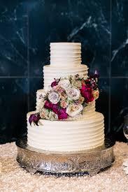 Burgundy Flowers Wedding Cake With Burgundy Flowers Elizabeth Anne Designs The
