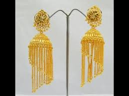 gold earrings jhumka design gold earrings jhumka designs