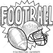 american football sketches drawings