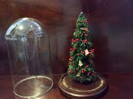 bottle brush tree w berries mini ornaments in glass