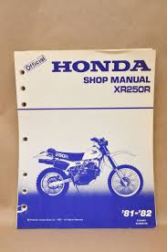 vtg honda 1981 1982 xr250 r repair service maintenance shop