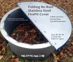 Firepit Lid Folding Corrosion Resistant Stainless Steel Pit Cover