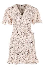 topshop dress print ruffle tea dress topshop